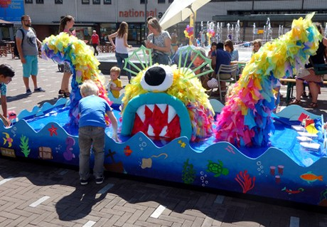 Two-Face Sea monster at Kinderboekenparade