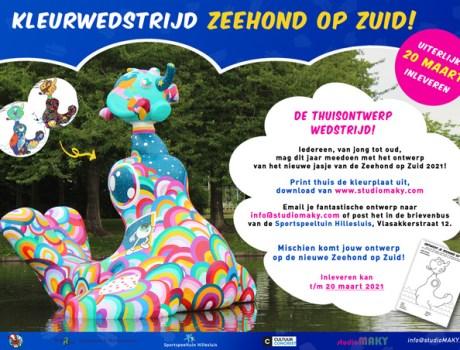 Kleurplaat Zeehond op Zuid 2021