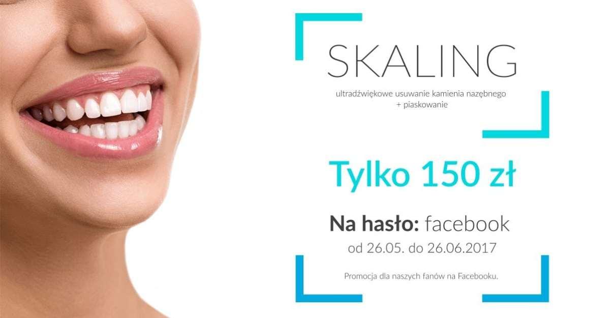 Promocja na Skaling w gabinecie stomatologicznym Cadent w Gdyni