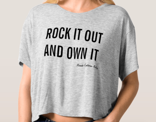 Rock it out and own it box tee