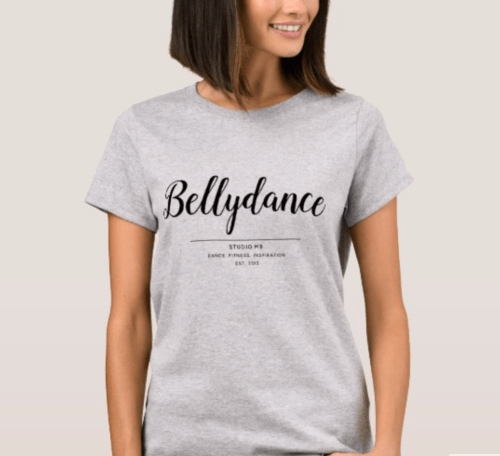 Bellydance Women's Basic Tee (grey)