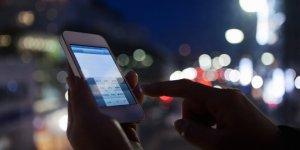 smart phone at night