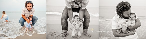 daddy-newborn-son-beach-nagshead-nc