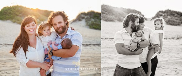 Family photography on beach of Outer Banks NC
