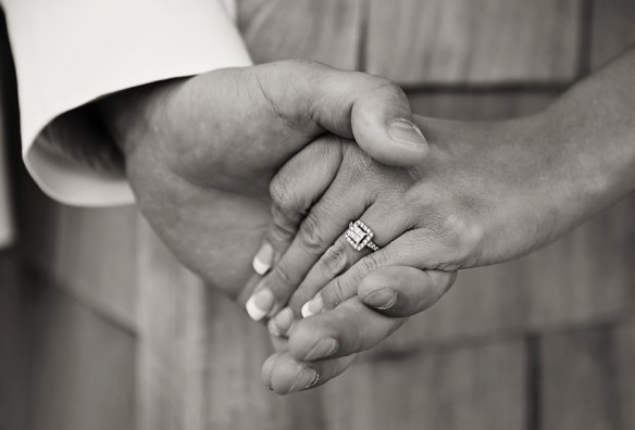 Outer-Banks-wedding-bride-groom-first-touch-hands-photo