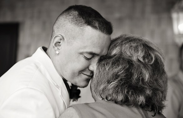 Outer-Banks-NC-wedding-photo-groom-mom-emotional-photograph