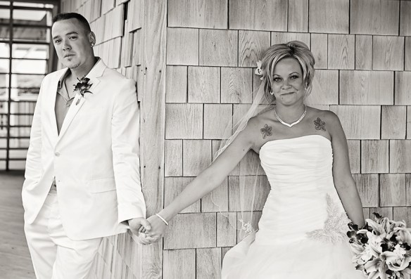 obx-wedding-black-white-photograph-first-touch-first-look-Nags-Head-NC