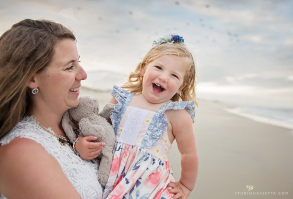 Mother and Daughter laughing photo in Outer Banks