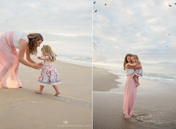Mommy and Me photo session at the beach in Outer Banks