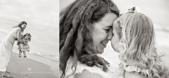 Outer Banks photo of Mother and daughter playing at the beach