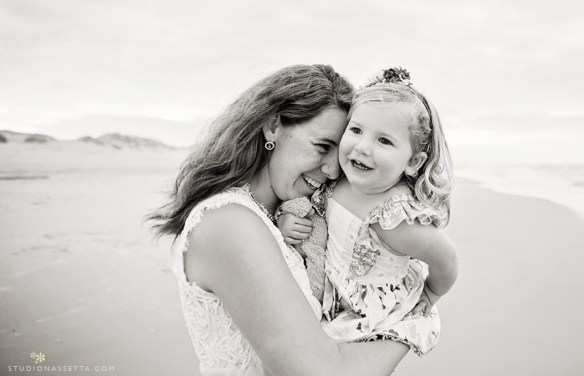 Photo of Mom hugging daughter in OBX