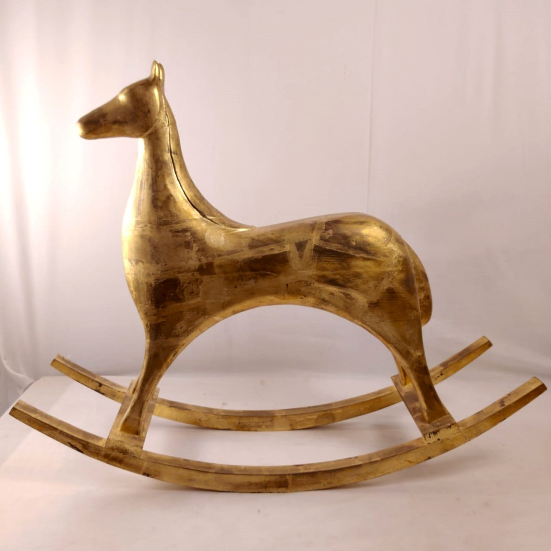 golden rocking horse