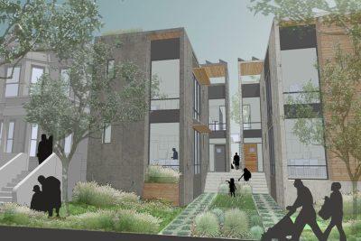 North Lawndale Prefab housing rendering