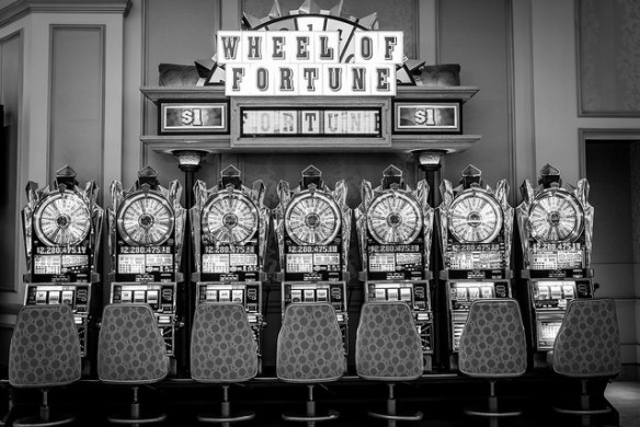 Wheel of Fortune Slots in the Venetian by MsSarakelly