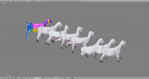 3D render goat lowpoly model