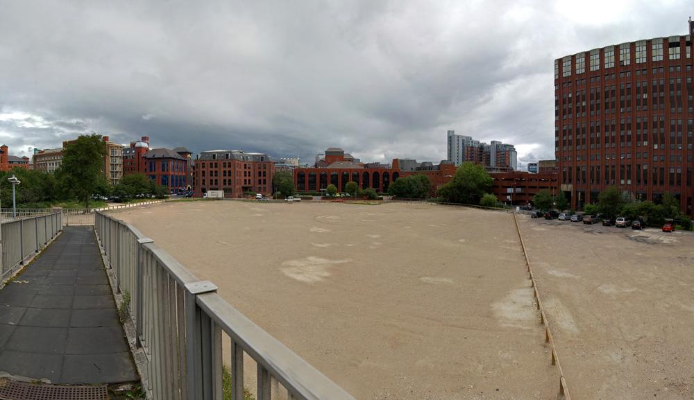 Site of the former Leeds International Pool after demolition