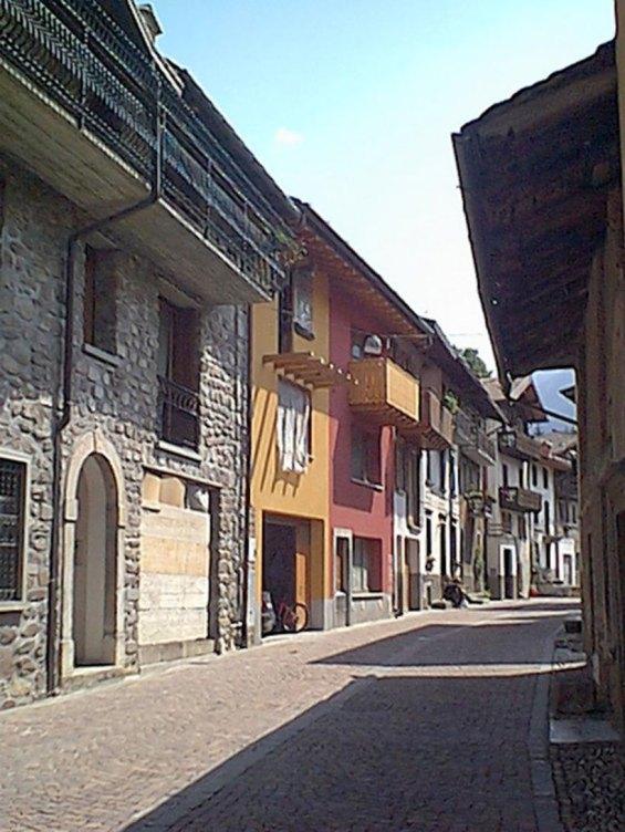 Edifici nel centro storico a schilpario