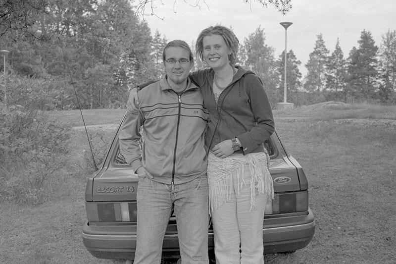 vesa and his girlfriend 2004 Finland