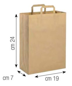 Shopper in carta 19x24 naturale