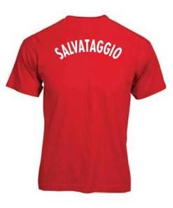 T-shirt rossa SALVATAGGIO