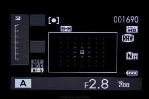 Ecran général du X-T1