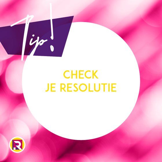 Check de resolutie