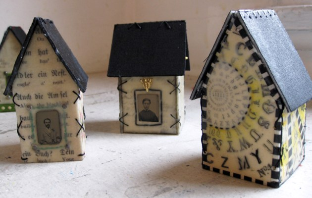 Encaustic Light Houses