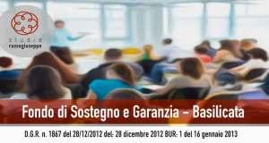 FONDO DI SOSTEGNO E GARANZIA PO FSE BASILICATA 2007 – 2013 - studiorussogiuseppe.it