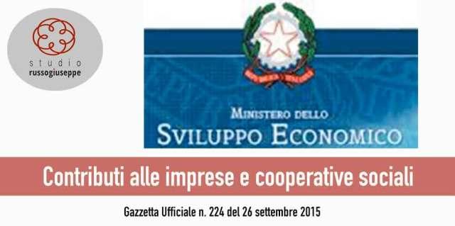 Contributi alle imprese e cooperative sociali - studiorussogiuseppe.it