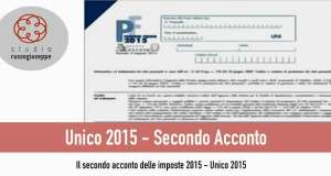 ACCONTI D'IMPOSTA – SECONDA O UNICA RATA DI NOVEMBRE 2015 - studiorussogiuseppe.it
