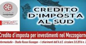 Credito-d'imposta-per-investimenti-nel-Mezzogiorno-i-chiarimenti-dell'A.d.E.-studiorussogiuseppe-finanziamenti-agevolati