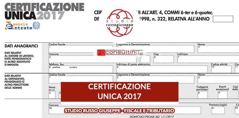 Certificazione Unica 2017