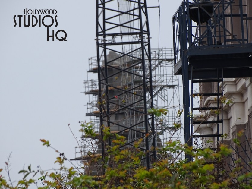 Another amazing first-hand view into the creation of the planet of Batuu. A second mountain peak is now being put into place. As is the case below, guests in the Grand Avenue area can often catch a momentary glimpse of construction work in progress. Material is being welded in place for the final project completion scheduled for 2019. Please enjoy the countless number of photos and the video below. Disney's Hollywood Studios. Photo by John Capos