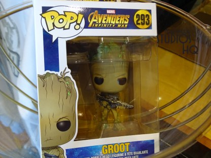 "Marvel fans rejoice: ahead of the highly anticipated film ""Avengers: Infinity War"" coming out April 27th, find cool Avengers merchandise available now at Mickey's of Hollywood. Pop figures of Groot and Thanos, along with action figures of Captain America, Rocket Raccoon and other super heroes line the racks. Collect all the figures to build your own super hero team! There are Marvel mugs, shirts, and so much for the Marvel fan awaiting guests in the store at Disney's Hollywood Studios. Photo by John Capos"