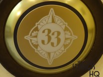 The legendary Club 33 logo has arrived at the Studios. The anticipated lounge opening is located in the old upstairs Catwalk Bar located behind the Hollywood Brown Derby. Appears that the FRID reader below the famous door bell is being readied for MagicBands with the Club 33 logo. Enjoy the pictures and video below at Disney's Hollywood Studios. Photo by John Capos