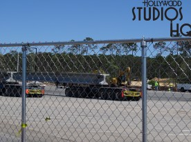 All eyes this week are on the new paved section across from the cast member parking lot. With the removal of some construction fencing, curious visitors will behold new large completed paved areas. Pictured below are semi-trucks delivering metal structures to be utilized in this project. Turning attention to the Stage parking area, paving crews have been observed around the clock diligently working to complete their work. Likewise, the Music section has enough construction walls lowered to reveal multiple parking spaces awaiting the large number of guests anticipated for the Toy Story Land opening and beyond. Meanwhile, transportation crews are loading up flatbed trailers to return perhaps for more loads to deliver. While activity is minimal on the Skyliner scene, the latest status has been captured by camera for viewing below. Disney's Hollywood Studios. Photo by John Capos
