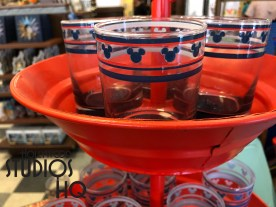 Guests can chose from a colorful selection of red, white, and blue glass ware now at Celebrity 5 & 10 located on Hollywood Boulevard. Select from an array of Mickey Mouse inspired and patriotic themed drinking glasses and coffee mugs. Need coordinated table plates or photo frames? Look no more. The merchandise at 5 and 10 can meet all guest design preferences. Disney's Hollywood Studios. Photo by John Capos