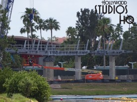 Crews have been busy this week to further erect the gondola station arrival and departure structure. New this week additional metal framing pictured below has appeared as part of this transportation system. While no specific opening date has been announced, stay tuned to Hollywood Studios HQ for the latest updates and photos. Disney's Hollywood Studios. Photo by John Capos