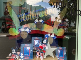 Mickeys of Hollywood merchandisers have been at work this week enhancing their store display window offerings facing both Hollywood Blvd and Vine Street foot traffic. Solo: A Star Wars Story merchandise now dominates the Hollywood Blvd display windows to further promote this new motion picture due in theaters later this month. Meanwhile, shoppers are also drawn to the window displays on Vine Street currently promoting upcoming patriotic holiday merchandise offerings. The red, white, and blue themed apparel and accessories have been observed steadily increasing on shelves in both this store and the Celebrity Five and Dime. Disney's Hollywood Studios. Photo by John Capos