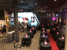 Dessert Party participants now have an assigned table with seating to further enjoy their food and beverage. Each guest table of four receives an invitation with a specific time that the Commander on the Bridge Kylo Ren requests their presence at his Meet & Greet. For reservations, call 407-WDW-DINE. Disney's Hollywood Studios. Photo by John Capos