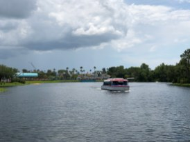 After a lengthy bridge and dock refurbishment at Disney's Swan and Dolphin Resort, the sleek FriendShip Boats set sail again to transport guests to and from Disney's Hollywood Studios. Since the May 7 shutdown of boat transportation, guests have used the scenic walkway or scheduled bus transportation. Now resort guests can sail in nautical comfort from the EPCOT resort locations directly to the Park's main entrance. Bon voyage! Photo by John Capos