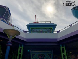 Guests of all ages will enjoy the Alien Swirling Saucers attraction which features a giant Buzz Lightyear at the entrance. This ride's cue includes colorful Star Command themed wall murals with shorter wait times than the Slinky Dog Dash Coaster. Also, the Aliens offer a photo op featuring Photo Pass in front of the attraction. Likewise, guests will thrill on the new Slinky Dog Dash Coaster which is visible from throughout the Land. The cue has limited shade so guests will want to grab their Fast Pass early. This attraction's night time lighting is particularly colorful and festive. Toy Story Land. Photo by John Capos