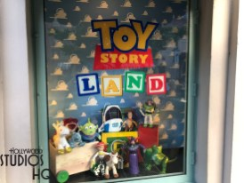 The main display windows have forgone the Solo: A Star Wars Story theme to instead display colorful Toy Story Land goods. Clothing and action figures are featured. Click here for full coverage of exciting Toy Story Land merchandise. Stay tuned here at Hollywood Studios HQ for the most in-depth coverage of the newly opened Toy Story Land! Disney's Hollywood Studios. Photo by John Capos