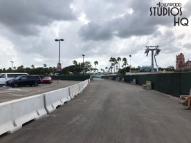 Guests utilizing charter bus transportation can now benefit with the opening of the initial phase of this new bus stop area. In addition to handling charter bus traffic, this first phase provides guests with park-to-park Disney transportation. The next phase of this bus stop area is still under construction. Upon completion, this second area will host all of the Park's bus arrival and departure activity. The entire bus stop area is near the Skyliner Station which is still under construction. By the way, for guests who like to use the walkway to and from EPCOT, the walking time to Hollywood Studios takes a few minutes longer. Foot traffic is now routed through the new bus stop area. Disney's Hollywood Studios. Photo by John Capos