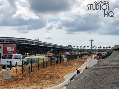 Recent construction crew efforts are nearing the complete removal of the original resort bus and parking lot tram loading and unloading zones as pictured below. The work on the new replacement resort and charter bus arrival and departure areas continues. Crews are working to complete the covered Disney's resort bus rider cues with metal structure work well underway. Stay connected to Hollywood Studios HQ for the latest news on this project. Disney's Hollywood Studios. Photo by John Capos