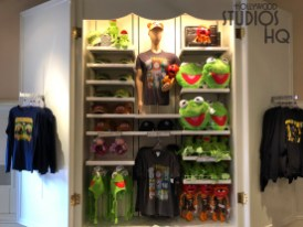 After a year of renovation for a section of floor space, shoppers can now enjoy the entire store. Muppet merchandise abounds with a full array clothing and character plush items. Shelving is also dedicated to Mickey and the Gang merchandise including hats, drinking cups, and plush selections. Hand painted cels of characters and replicas of park signage are also awaiting shoppers.Star Wars merchandise now occupies the main section of Stage 1 Company Store. Disney's Hollywood Studios. Photo by John Capos