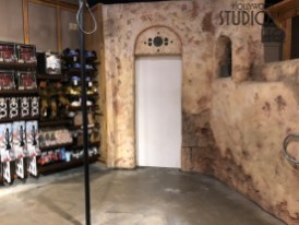 Star Wars merchandise shoppers will find construction walls throughout this retail location during the renovation work. Limited merchandise is still available for purchase and has been temporarily positioned in the Amazing Photos location. With the Droid Factory also removed for this work, guests can anticipate a remodeled Tatooine Traders back in full operation in October 2018. Disney's Hollywood Studios. Photo by John Capos