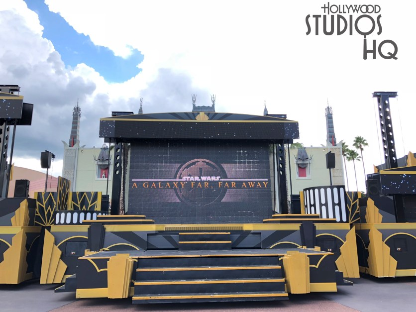 The Park's center stage will be absent the popular Star Wars characters as this outdoor scheduled daily show yields to planned sidewalk construction. The stage show will suspend performances on September 30, 2018, to allow for concrete work to begin in this location. However, fans will once again enjoy the daily performances when the show resumes later this fall in November. Disney's Hollywood Studios. Photo by John Capos