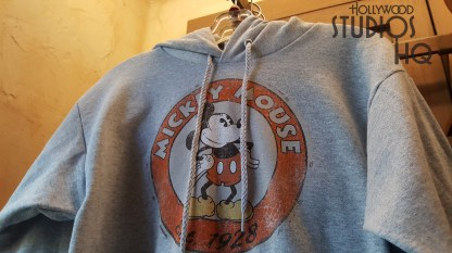 For cooler weather , guests have new Mickey themed hoodies as well as a long sleeve shirt awaiting them in the Indiana Jones Adventure Outpost. Shoppers can also select a new men's straw hat with a blue head band design. Stay tuned with Hollywood Studios HQ for news and photos on the latest apparel selections in the park. Disney's Hollywood Studios. Photo by John Capos