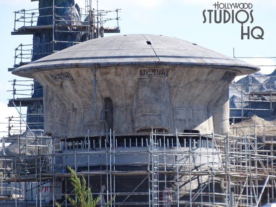 A new temple building is visible on the Planet Batuu. Crews continue work on the rustic finish of this new structure. Stay tuned for weekly updates with exciting new photos here at Hollywood Studios HQ. Star Wars: Galaxy's Edge. Disney's Hollywood Studios. Photo by John Capos